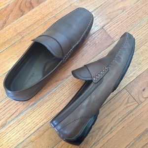 Banana Republic Brown Leather Loafer Slip Ons 10.5